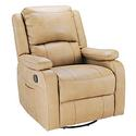 Swivel Glider Recliner with Remote Massage, Beckham Tan