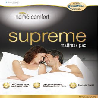 home comfort mattress pad full - Short Queen Mattress