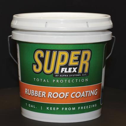 Superflex Rubber Roof Coating, 1 Gallon