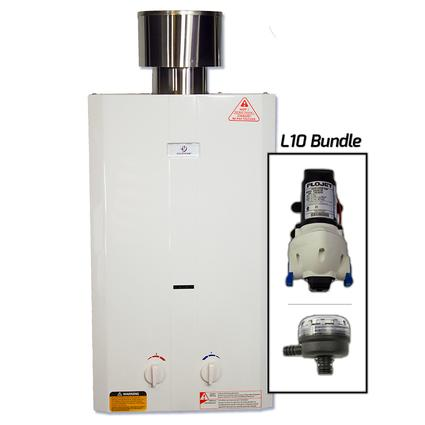 Eccosystem L10 Portable Water Heater with FloJet Pump and Strainer
