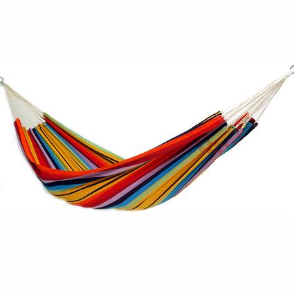 Single Brazilian Barbados Hammock, Rainbow