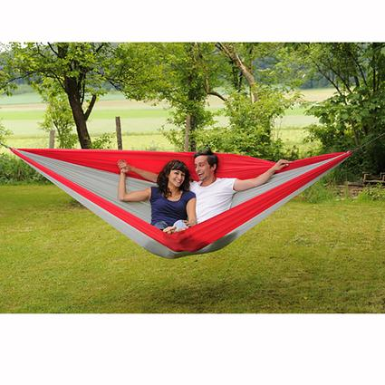 Traveller Double XXL Hammock, Gray/Red