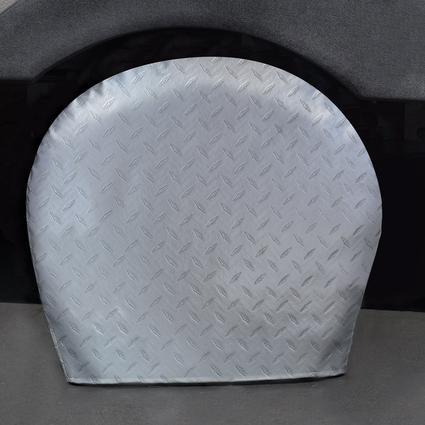 Diamond Plate Silver Tyre Gards, 36