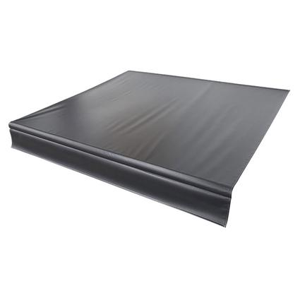 Solera Replacement Awning Fabric - Solid Black with Black Weather Guard, 15'