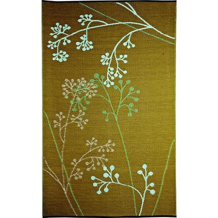 b.b.begonia Fernando Blue Olive Reversible Patio Mat, 8' x 20'