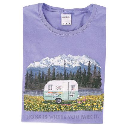 Home Is Where You Park It Vintage Trailer Tee, XL