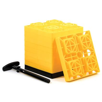 Fasten Heavy-Duty Leveling Blocks for Single Wheels, Set of 10