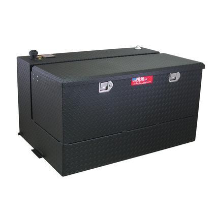 Black Powder Coat Transfer Fuel Tank & Toolbox Combo, 95 Gallon