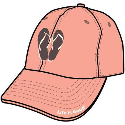 Life is Good Flip Flop Chill Cap, Tawny Peach