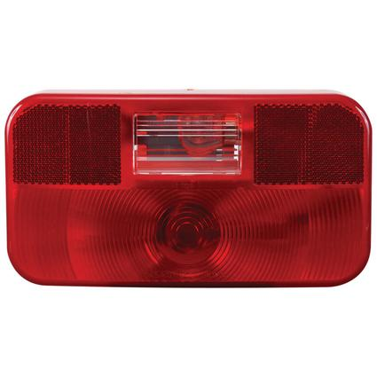 RV Stop/Tail/Turn Tail Light w/o illuminator w/ backup light Red