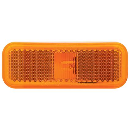 Rectangular Clearance/Marker Light white base two wire amber