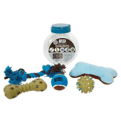 5-Piece Pet Toy Set with Jar