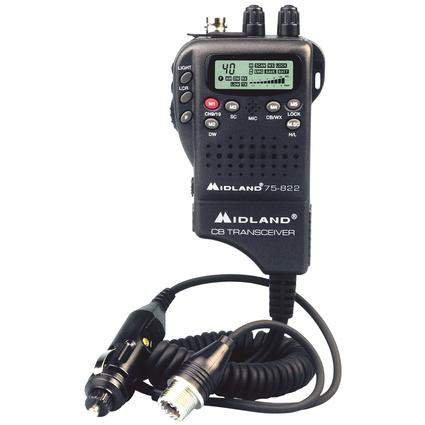 Midland Cb Hh, 40Ch, Wx/Hzd Mon. 12V Adp