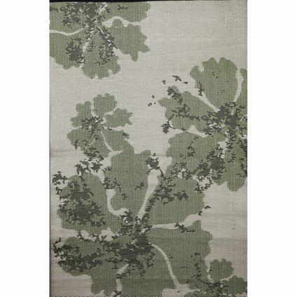b.b.begonia Patio Mat, Polypropylene, Boca Design, 4x6, Green/Brown