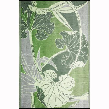 Blossom Green/Gray Reversible Outdoor Rug, 5 x 8
