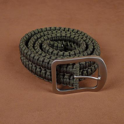 Green Paracord Survival Belt, Small