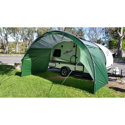 PahaQue R-Pod Trailer Awning, Silver/Green