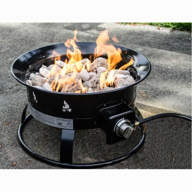 Image Portable Propane Outdoor Fire Pit. To Enlarge the image, click or  press Enter . - Portable Propane Outdoor Fire Pit - Heininger 5995 - Fire Pits