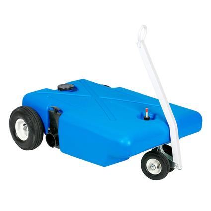 Barker 4-Wheeler Tote Tank with Pneumatic Wheels, 25 Gallon
