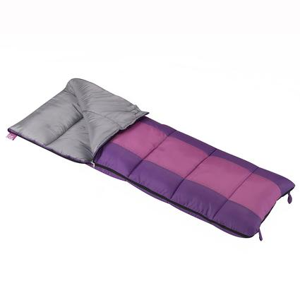Girls Summer Camp Sleeping Bag, 40 Degrees, Short