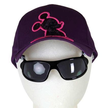 Disney Themed Kids' Sunglasses Hats, Shadow Mickey, Purple