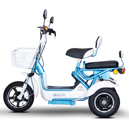 Crossover 2 Passenger Scooter, Blue/White