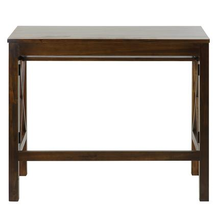 Montego Folding Desk with Pull-Out, Brown