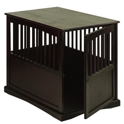 Large Pet Crate End Table, Espresso