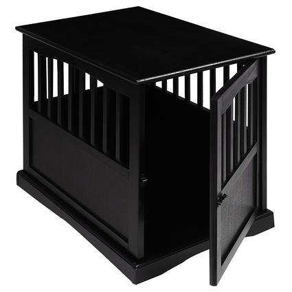Small Pet Crate End Table, Black