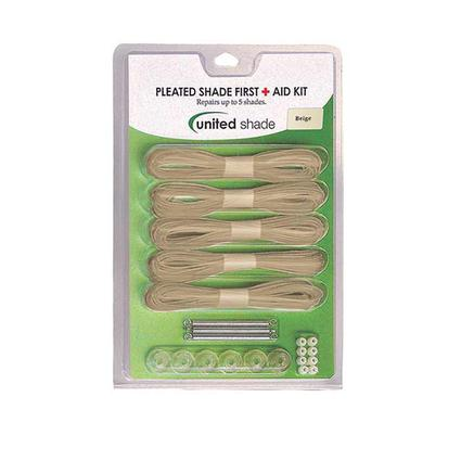 Pleated Shade First Aid Kit, Beige