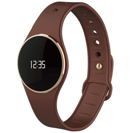 Activity Tracker Watch with Bluetooth, Brown