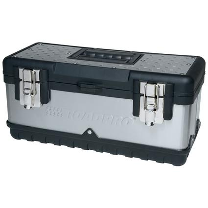 Stainless Steel Tool Box with Removable Tray, 15