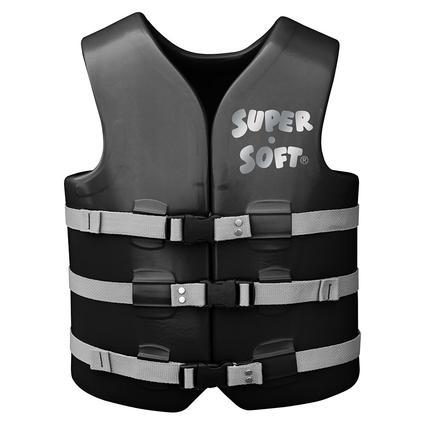 Super Soft Adult Life Vest, Medium, Black