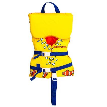 Super Soft Toddler Life Vest, Yellow Fish