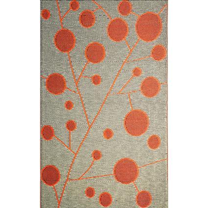 b.b.begonia Patio Mat, Polypropylene, Cotton Ball Design, 5x8, Brown/Orange
