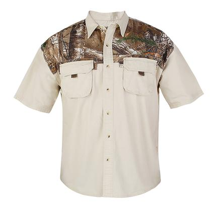 Realtree Men's Ripstop Camp Shirt, Silver Birch, XXXXL