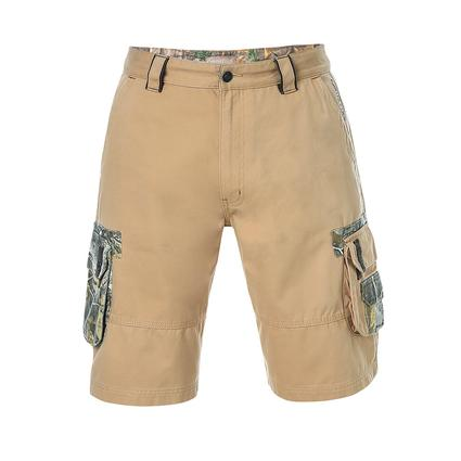 Realtree Men's Twill Cargo Short, Candied Ginger, 40x32