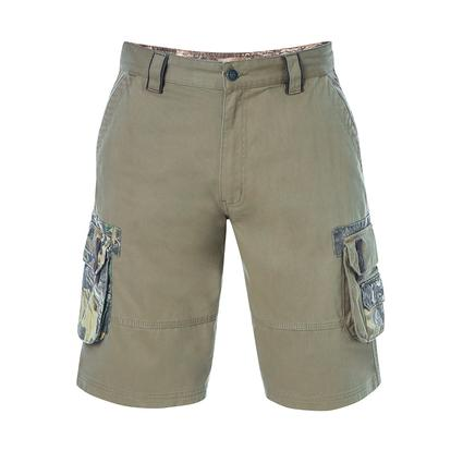 Realtree Men's Twill Cargo Short, Covert Green, 44x32