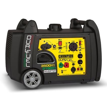Champion 3500 Watt Dual Fuel RV Ready Portable Inverter Generator with Electric Start