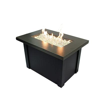 Providence Fire Pit with Crystal Fire Burner