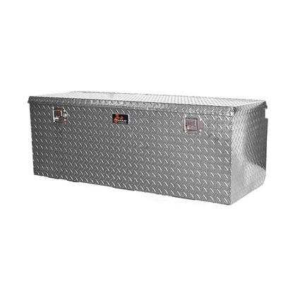 Large Locking Aluminum Diamond Plate Toolbox