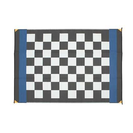 Patio Mat, Polypropylene, Checkered Flag Design, 6x9, Black/White