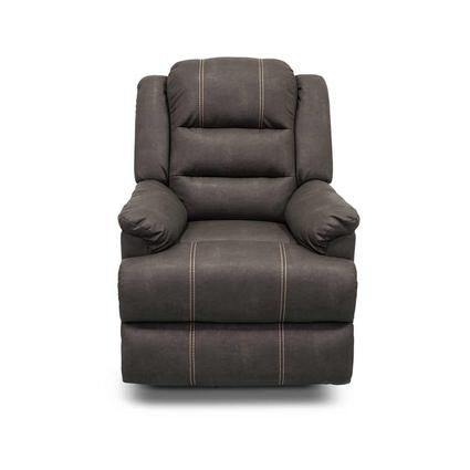 Thomas Payne Collection Swivel Glider Recliner, Malbec Beckham Steel
