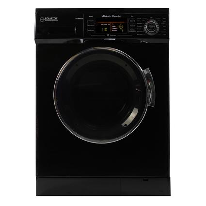 Equator 1.57 cu.ft. Compact Convertible Super Combo Washer with Venting/Condensing Drying and Automatic Water Level and Sensor Dry, Black