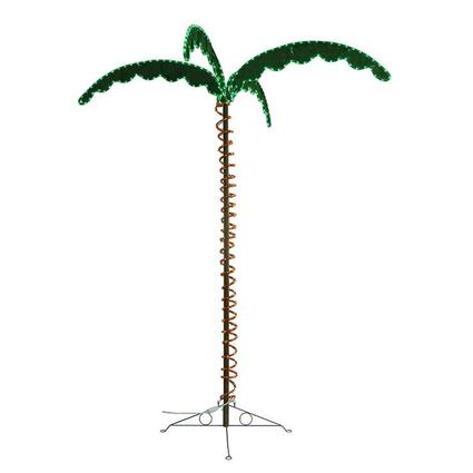 Green Long Life Decorative 7 LED Rope Light Palm Tree