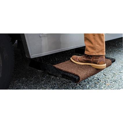 Premium Wrap Around RV Step Rug, 18, Brown