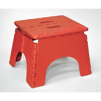 9 Red Folding Stool