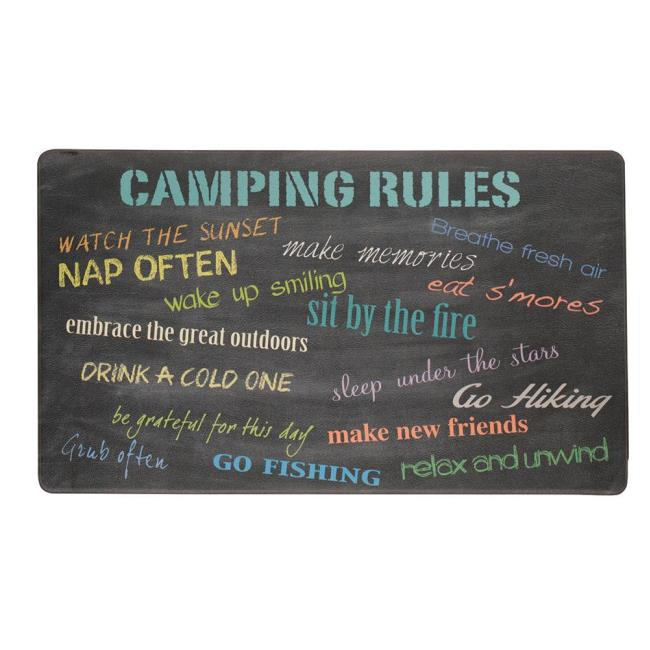 Anti-Fatigue Kitchen Mat, Camping Rules - Kittrich STRB-14846-20 ...