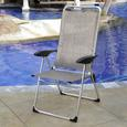 Lightweight Adjustable Folding Arm Chair
