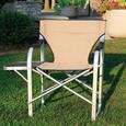 Aluminum Extra Large Directors Chair, Tan
